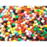 Ziggle Pom Pom Boll Multi Color 10 mm Size (50 Pcs Pkt)