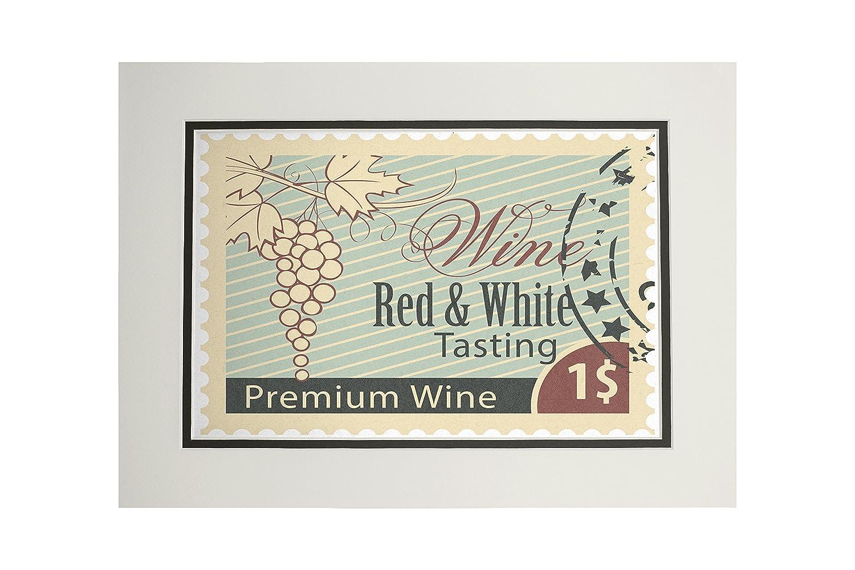 買い誠実 Wine Tastingスタンプ 11 x 11 Tastingスタンプ 14 Matted Art Art Print LANT-49453-11x14M B06XZYY5M7 11 x 14 Matted Art Print, 木枠屋:2bf6e40e --- mcrisartesanato.com.br