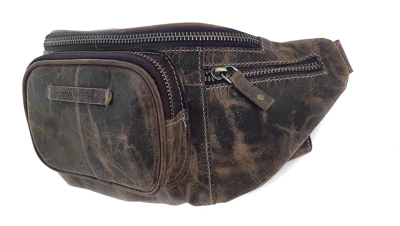 Chalk Factory Natural Leather Waist Bag Leather Chest belt Unisex Bum Bag