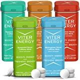 Viter Energy Caffeinated Mints - 5 Flavor Variety Pack. 40mg Caffeine, B Vitamins, Sugar Free Vegan Breath Mint. Powerful Ene