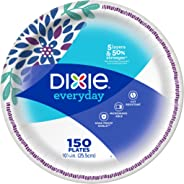 Dixie Everyday Disposable Paper Plates, 10-1/16