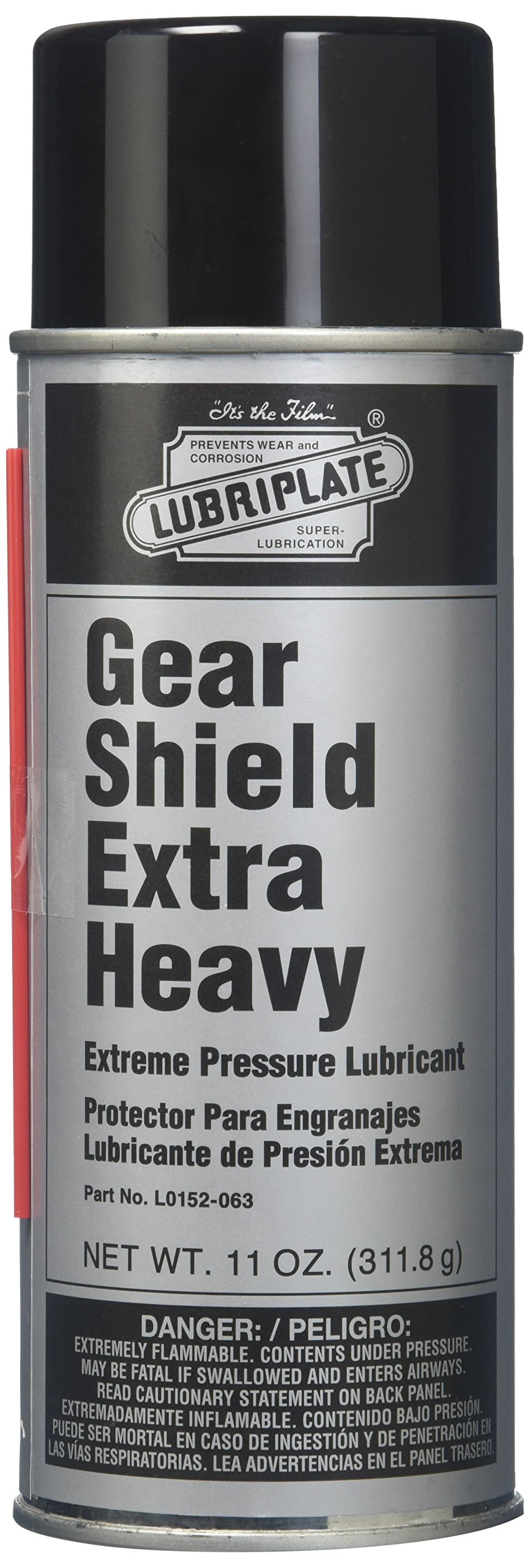 Lubriplate L0152-063 Gear Shield Series Black ISO-9001 Registered Quality System, ISO-21469 Compliant 40+ cSt Multi-Purpose Open Gear Grease, 11 oz (Pack of 12) by Lubriplate
