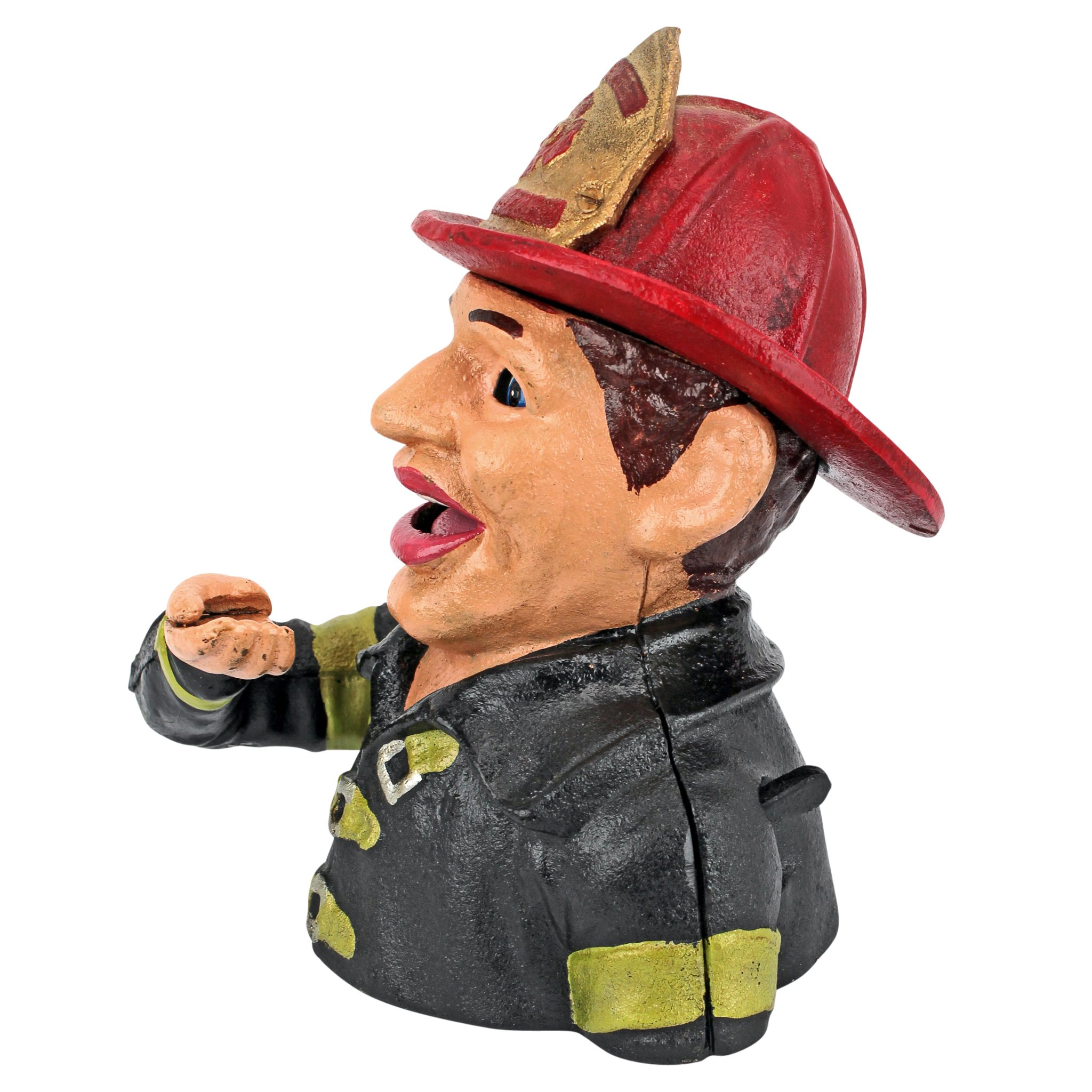 Design Toscano Fireman's Fund Die-Cast Iron Mechanical Coin Bank by Design Toscano (Image #3)