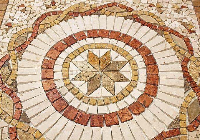 Rosoni rosone mosaico in marmo su rete per interni esterni