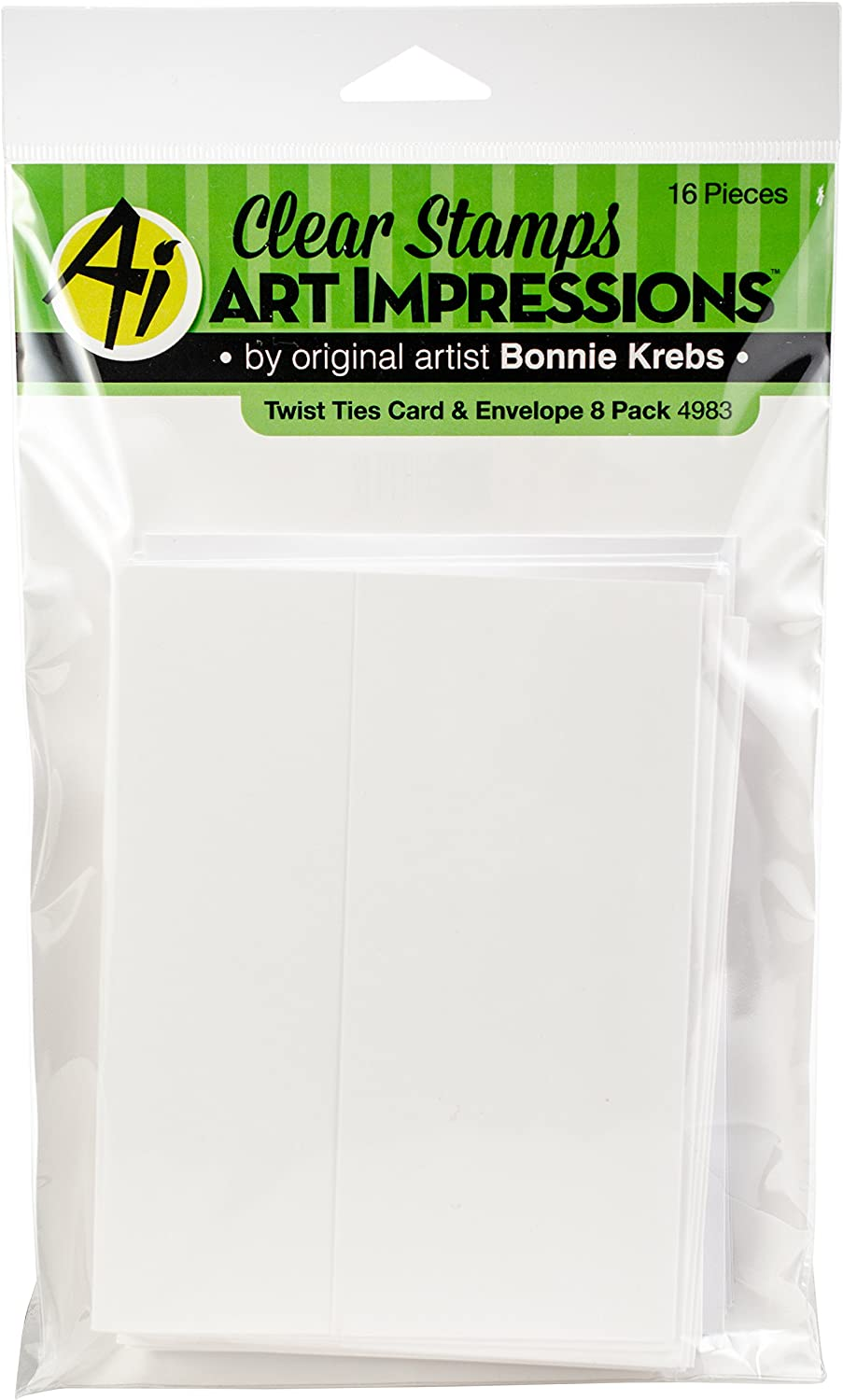 Multicolor Art Impressions 4983 Twist Ties Cards /& Envelopes 8 per Pack
