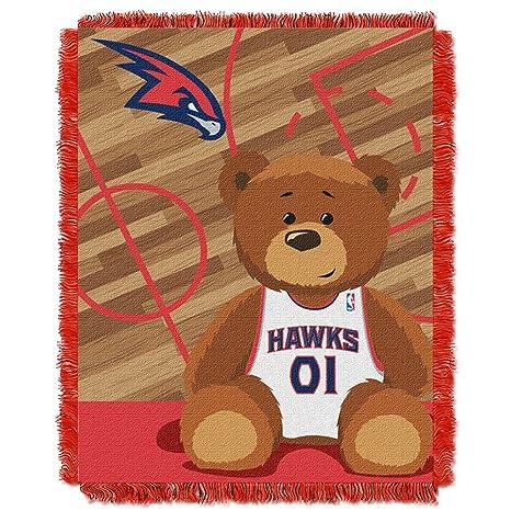 Amazon.com   NBA Atlanta Hawks Half Court Woven Jacquard Baby Throw ... 4af1ab2e0