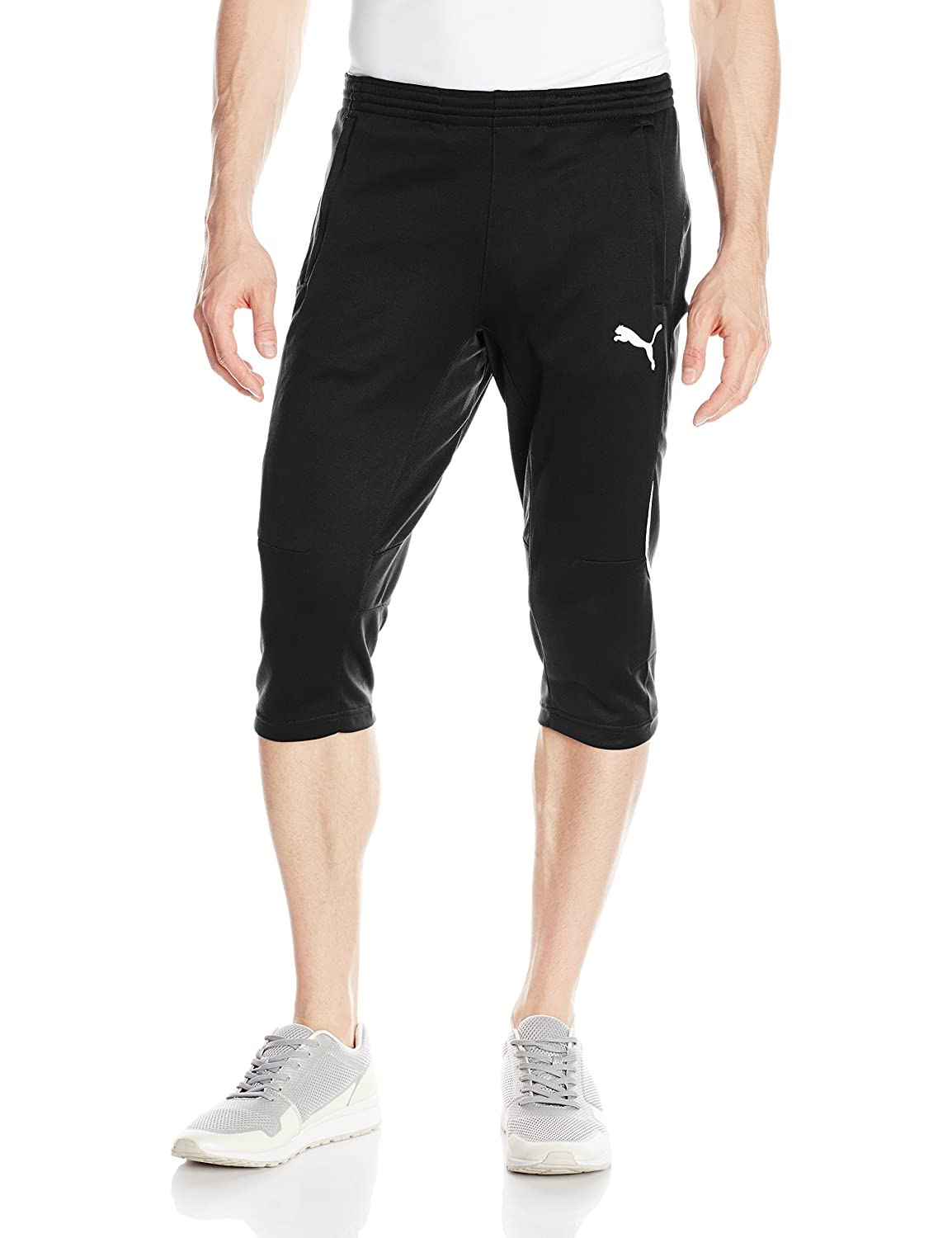 Puma Men's 3 4 Training Pant, schwarz Weiß, Large