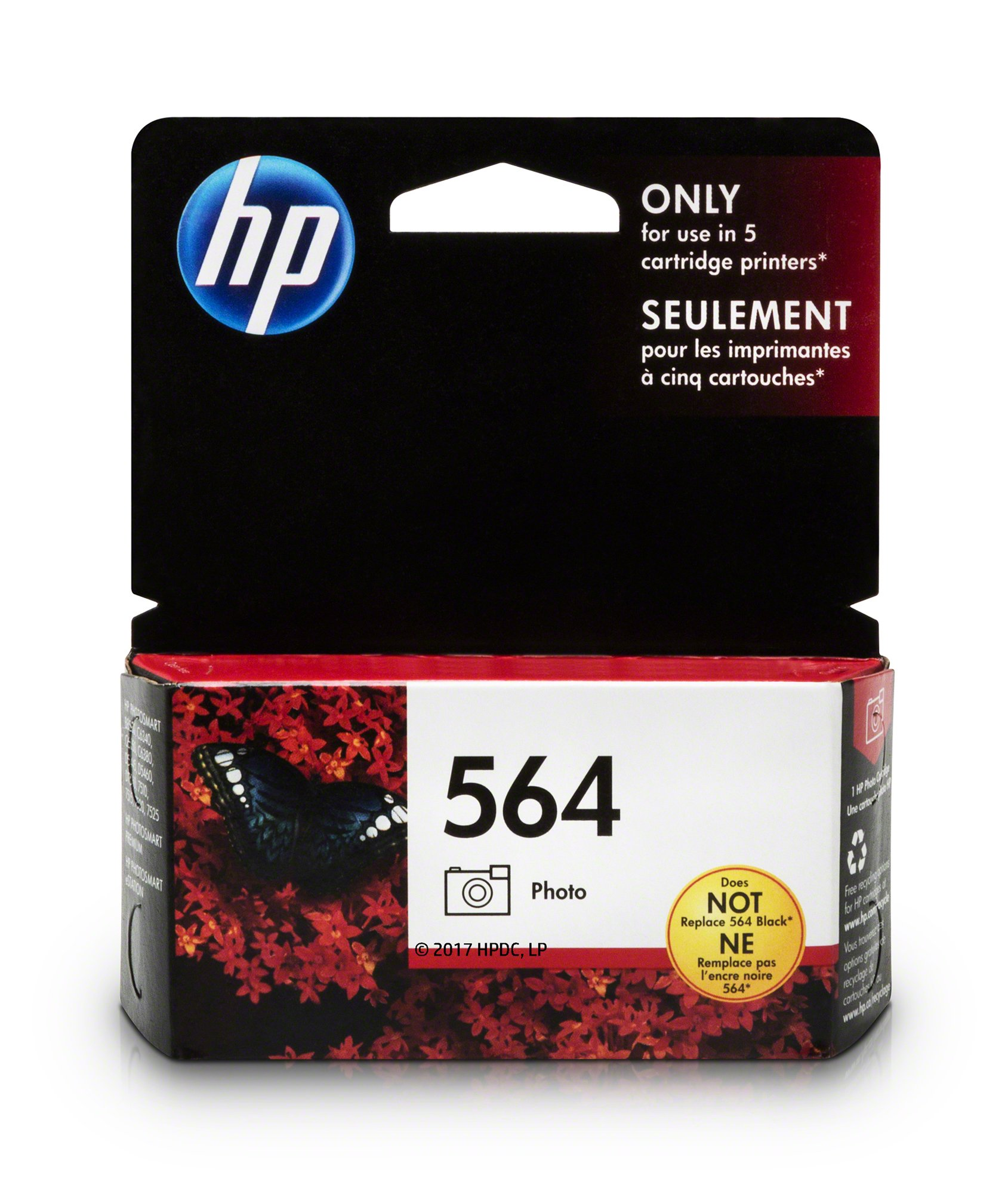 HP 564 Photo Ink Cartridge (CB317WN) for HP Photosmart B8550 D5445 D5460 D7560 7510 7515 7520 7525 C6340 C6350 C6380 C510a C309g C310a HP Photosmart Premium Fax e-All-in-One Printer C410a HP Photosmart Premium TouchSmart Web All-in-One Printer C309n