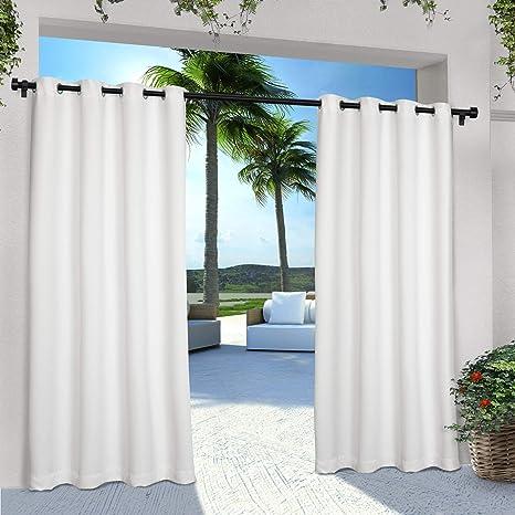 Aruba Home Decor Window Treatment Kitchen Valance Dining Room 2 PC PAIR of Curtain Drape Panels Premier Prints Felix Blue Natural