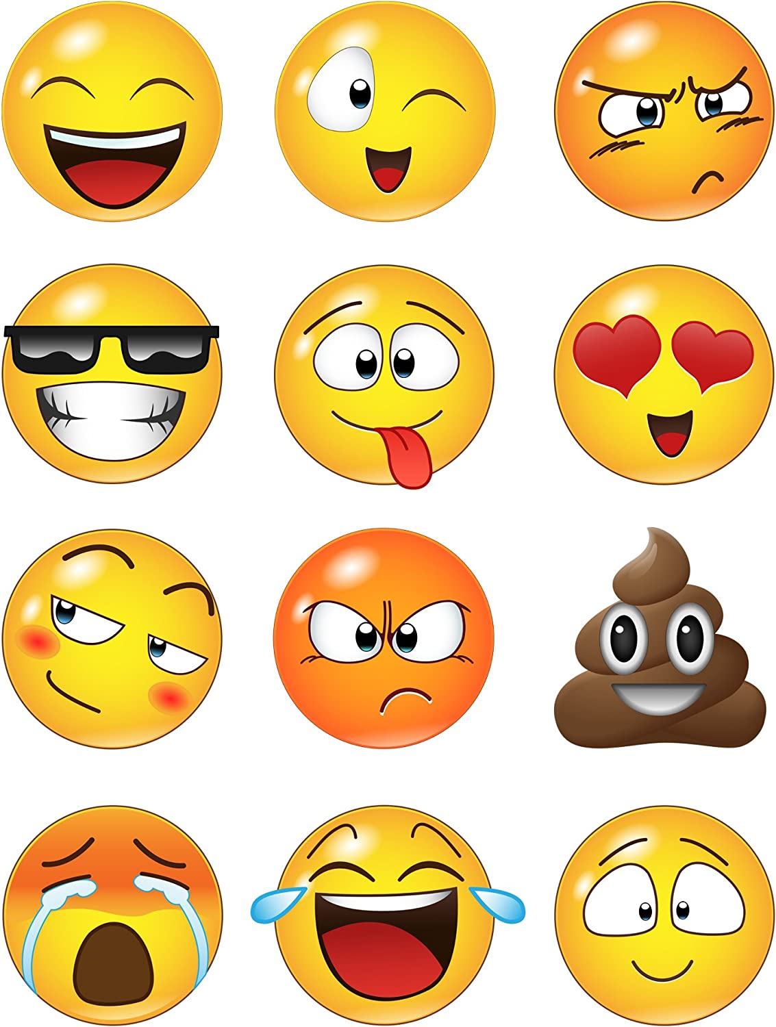 Amazon Com Emoji Faces Wall Stickers 6052 6in Emoji Faces Arts Crafts Sewing