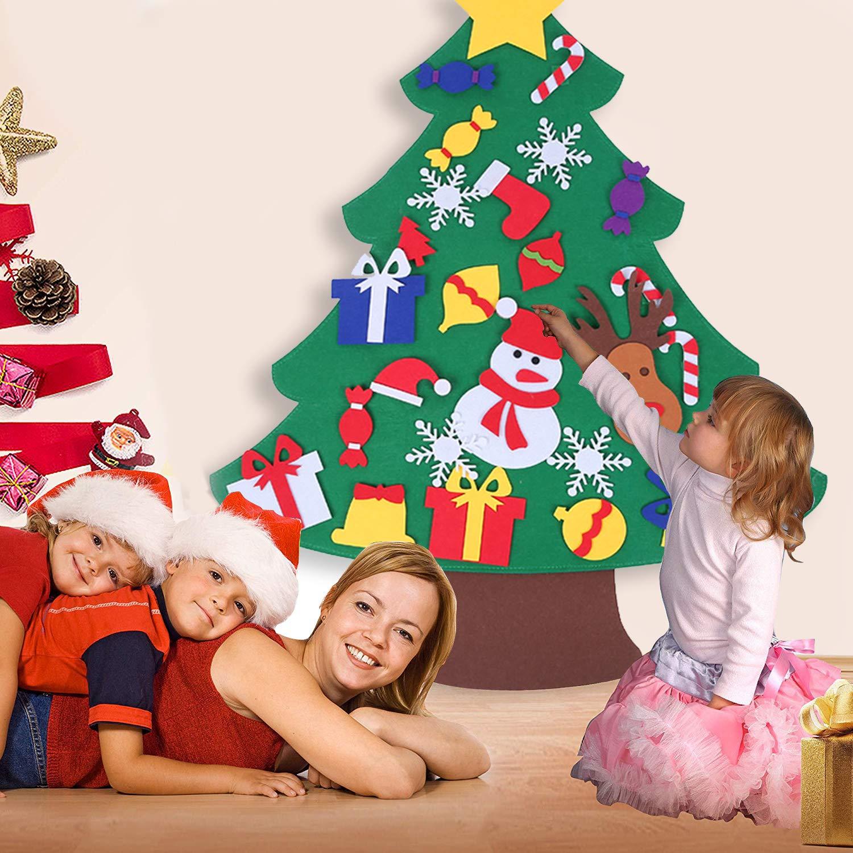 Biscotti Finti Per Albero Di Natale.Specool Albero Di Natale Diy Per Bambini Albero Di Feltro Di Natale Con Banner Buon Natale Ornamenti Rimovibili Per Bambini Regali Di Natale Decorazioni Per Appendere La Porta Di Capodanno Decorazioni Natalizie
