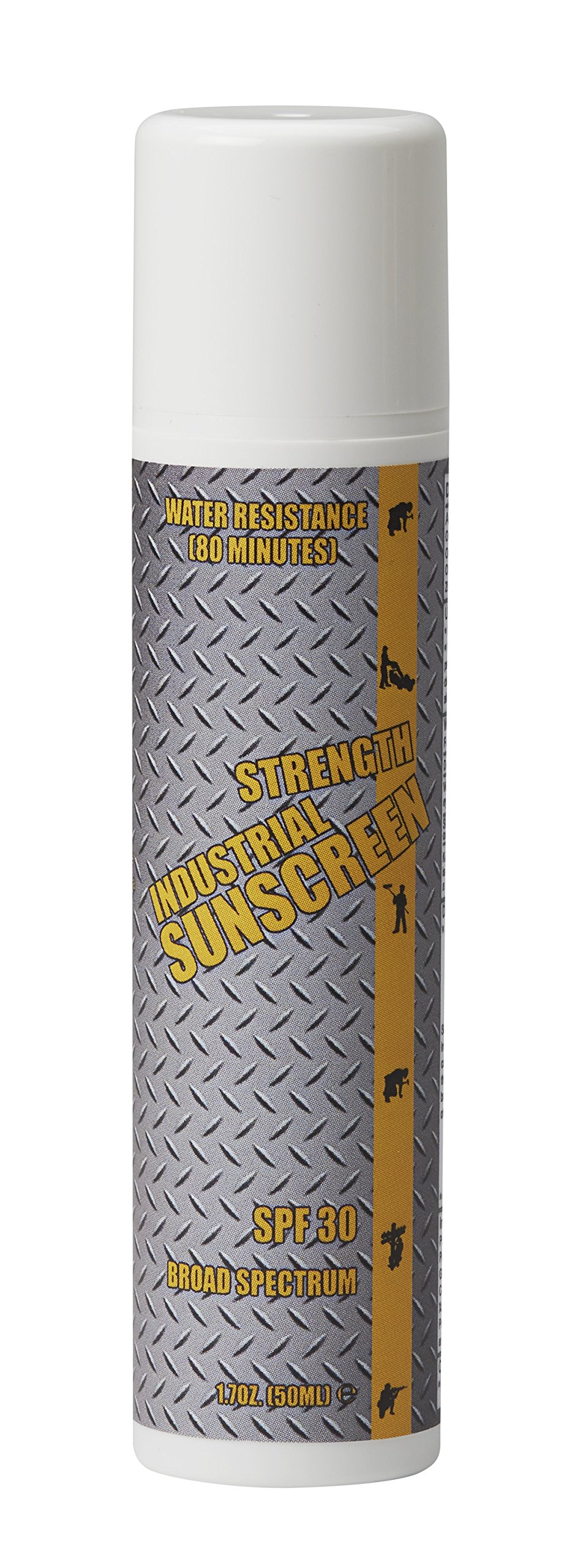 Industrial Sunscreen SPF30+ Broad Spectrum 80 Min. Water Resistance Zinc Oxide Formulation 50 Ml.
