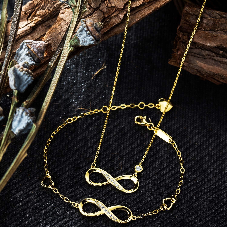 Chapado en Oro Blanco y Diamante Regalo para Navidad Collar de Plata de Ley 925 dise/ño de coraz/ón Billie Bijoux