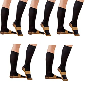 Underwear & Sleepwears Men Women Leg Support Stretch Compression Socks Below Knee Socks Antifatigue Anti-fatigue Knee Compression Socks