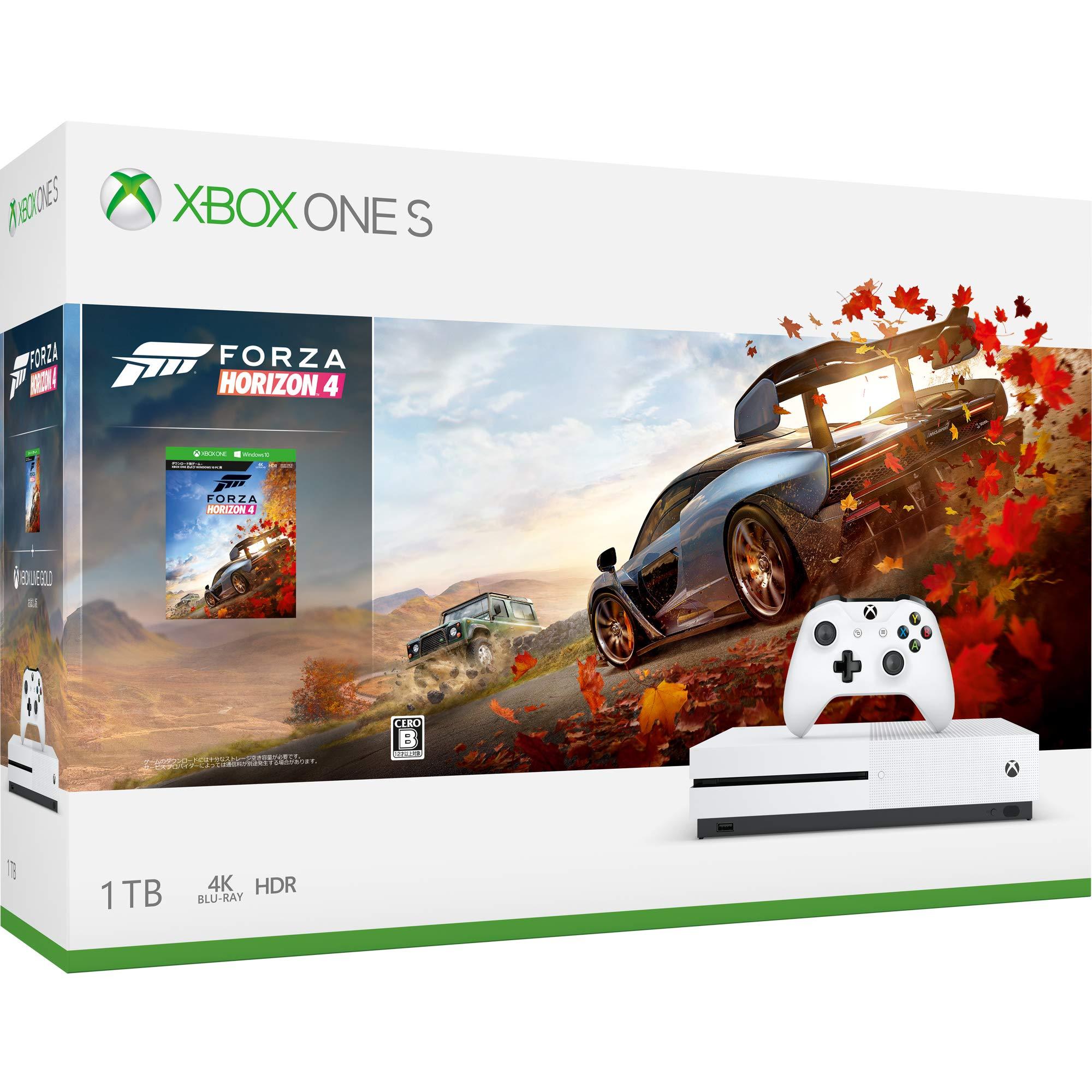 【12月31日まで5,400円割引】Xbox One S Forza Horizon 4 同梱版