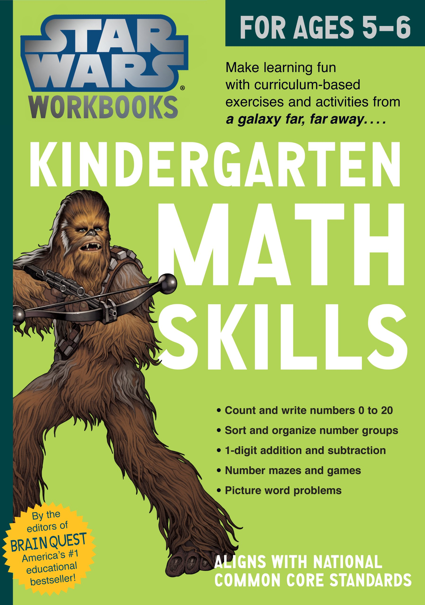 Star Wars Workbook: Kindergarten Math Skills (Star Wars Workbooks ...