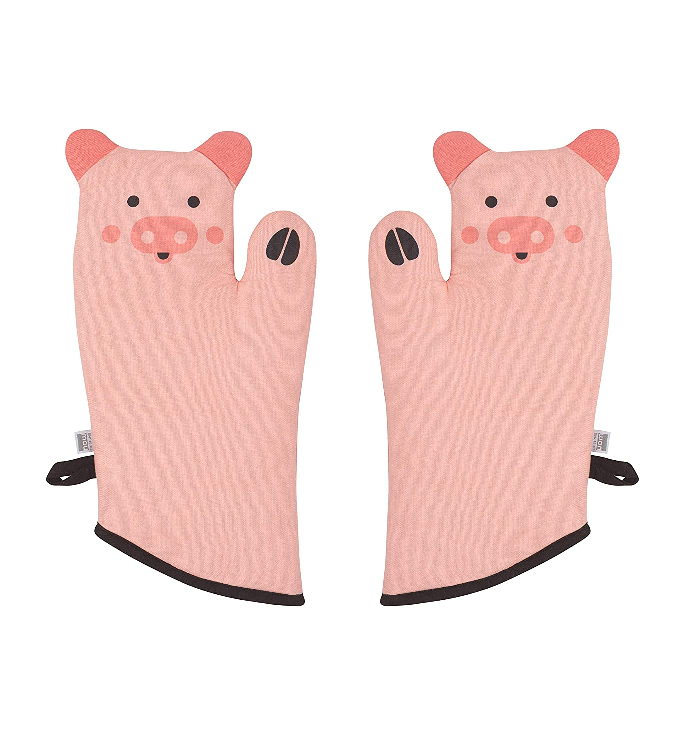 Now Designs 2032005aa Critter Oven Mitt, Set of Two, Penny Pig
