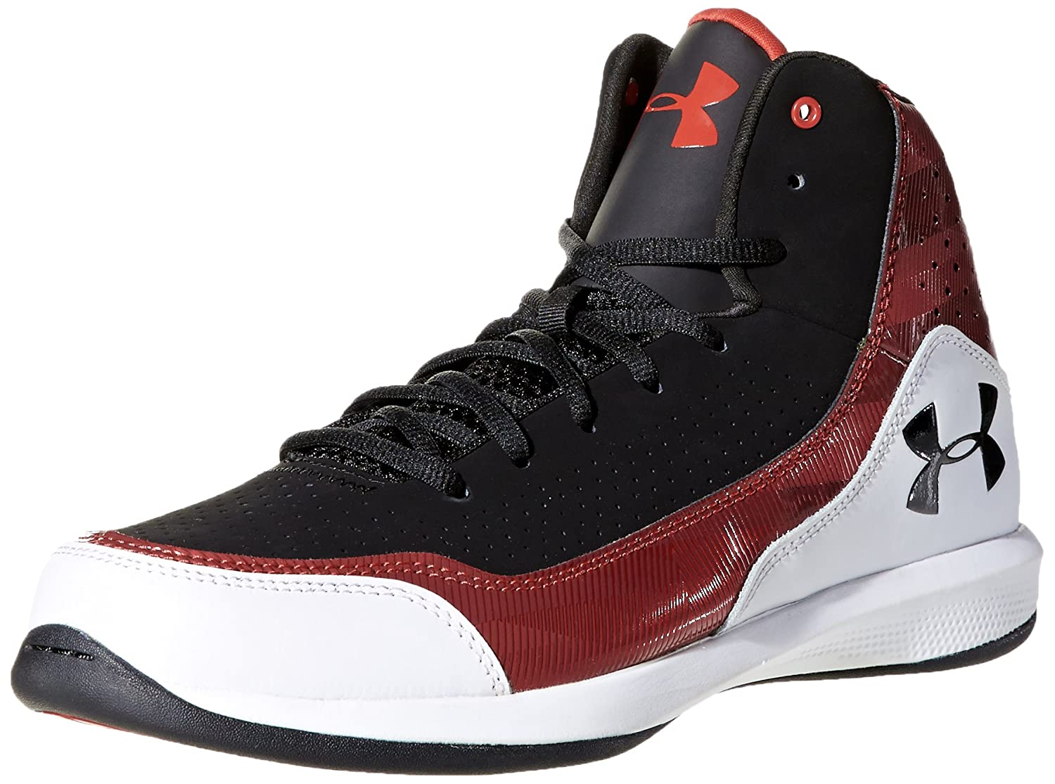 Under Armour Men s Basketball Shoes black   white   red  Amazon.co.uk   Shoes   Bags d475b6504dc
