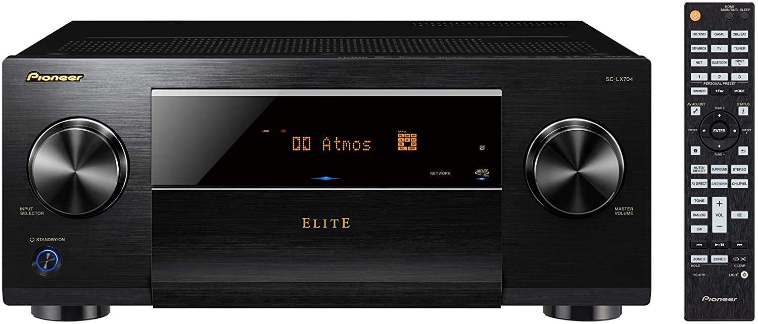 Pioneer Elite SC-LX704-9.2-Ch Network AV Receiver with IMAX Enhanced/Works with SONOS/Dolby Atmos, Black