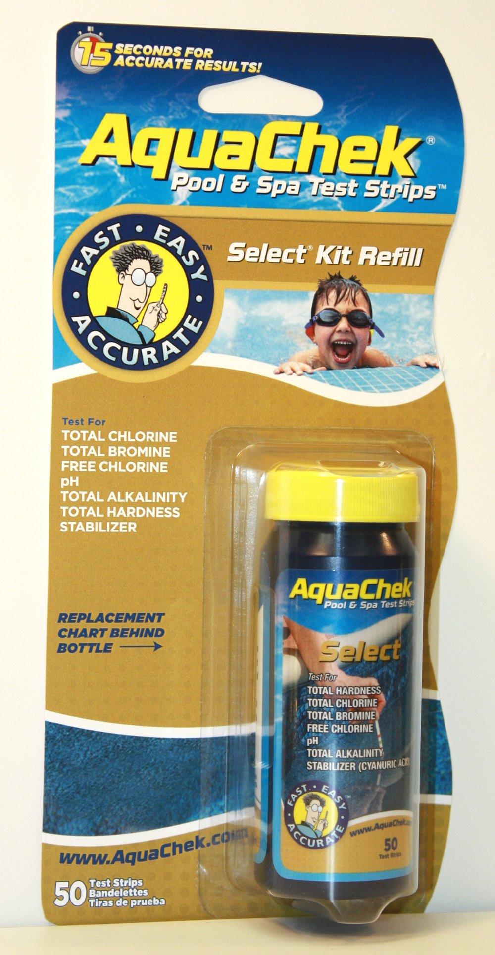200) New AQUACHEK Select Refill Swimming Pool Spa 7 Test Strips pH/Chlorine by AquaChek