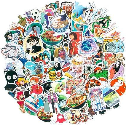 Amazon Com 100pcs Studio Ghibli Stickers Miyazaki Hayao Animation Film Theme Anime Stickers Spirited Away No Face Man My Neighbor Totoro Waterproof Laptop Stickers For Teens Skateboard Stickers Luggage Decal Arts Crafts