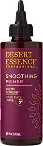 Desert Essence Smoothing Primer - 6.5 Fl Oz - Hi-Gloss Technology - Increases Shine 5x - Smooth and Sleek Hair - Apple Cider Vinegar - Quinoa Protein - Tea Tree Oil - Complete Hair Care