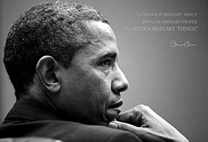 Amazon WeSellPhotos Barack Obama Photo Picture Poster Framed Enchanting Famous Quotes About Change