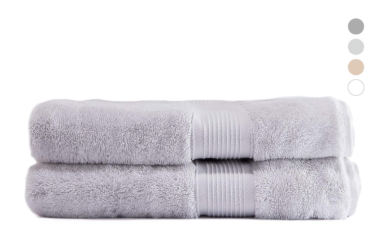 Serviette de Bain S/échage Rapide Toucher Ultra Doux QUAGGY Home 100/% Coton Peque/ña 30x50 cm Blanc Arctique