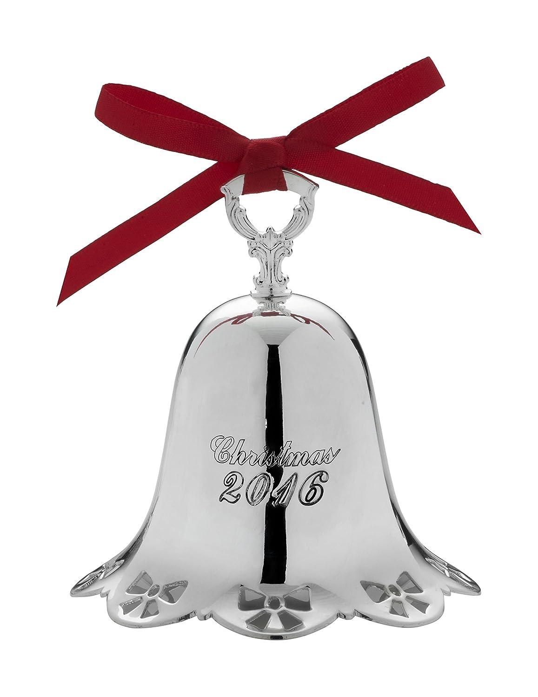 amazon com towle 2016 silver plate pierced bell ornament 37th