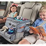 High Road Car Organizer for Kids with Cooler and Snack Tray (Polka Dot)