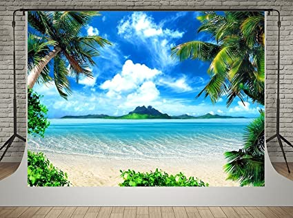 Waw Sommer Thema 3x2m Blauer Himmel Meer Fotografie Kamera