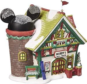 Department 56 Disney Village Mickey's Ski Chalet Lit House, 6.5 inch