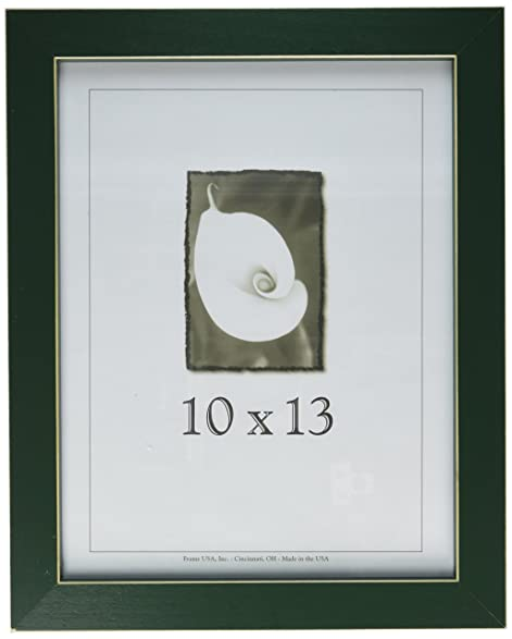Amazon.com - 10x13 Green Picture Frame with Clean Cut Edge - Single ...