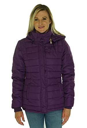 Rampage Womens Hooded Quilted Puffer Coat XS Purple at Amazon ... : purple quilted jacket - Adamdwight.com