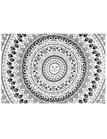 5f571ab3207a Amazon.com  Zest For Life Cat Mandala Tapestry Kitten Tablecloth ...
