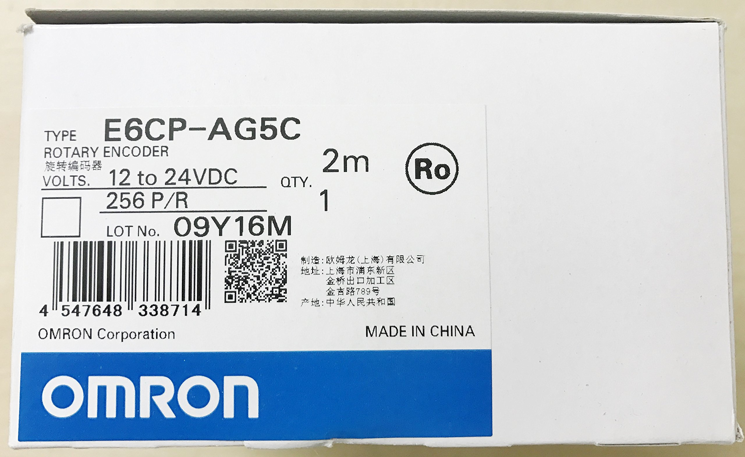 OMRON INDUSTRIAL AUTOMATION E6CPAG5C 256 2M Rotery Encoder