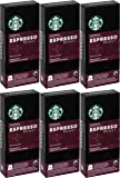 Starbucks Fairtrade Espresso Roast Espresso Capsules Compatible with Nespresso OriginalLine Machines - 6 Pack for a total of 60 Capsules Pods