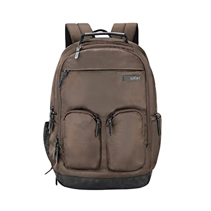 bb753ffc93ae Safari 25 Ltrs Brown Laptop Backpack (Quest Compact)  Amazon.in  Bags