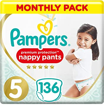 Pampers Premium Protection Pañales Pack de ahorro mensual, suave ...