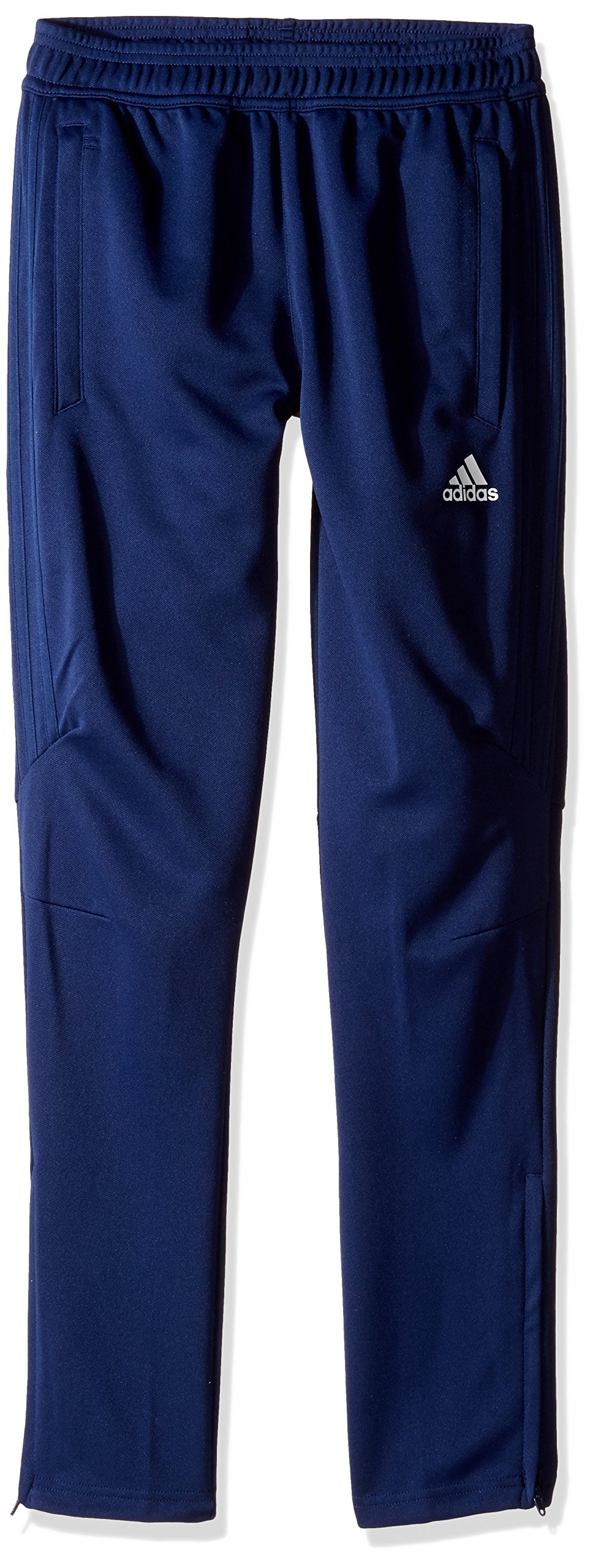 adidas Youth Soccer Tiro 17 Pants, Small - Dark Blue/White