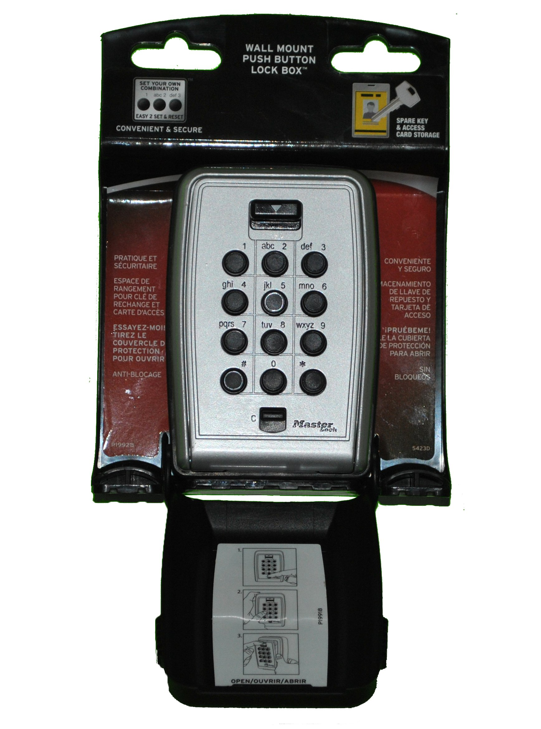 Details about Master Lock Lock Box, Set Your Own Combination Push Button  Wall Mount Key Safe,