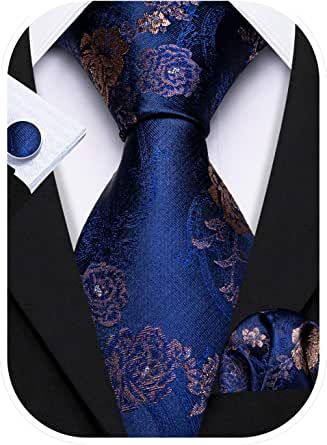 Blue and Red Wedding Dark Blue Tie Small Floral Print Liberty of London Navy Blue and Red Floral Neck Tie Red Poppy Flowers Tie