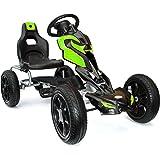 JOY 4KiDS #scout Kids pedal go kart, ride-on car, pedal go cart, eva tyres 5-12 yrs green