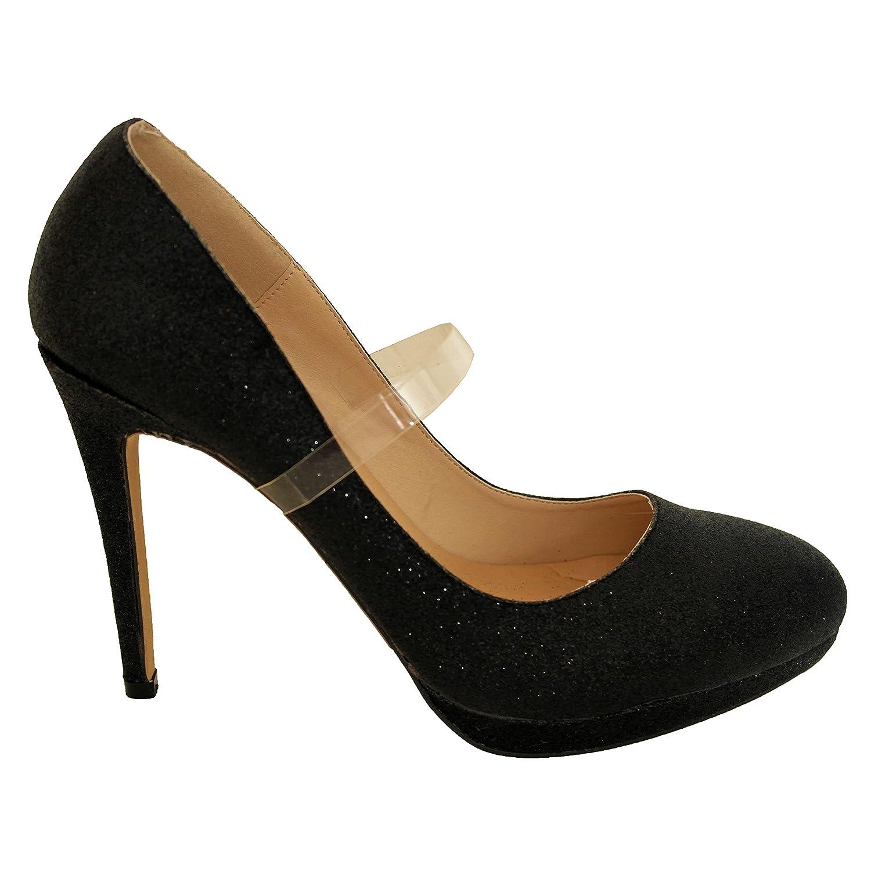 Pratiques sangles élastiques de chaussures, accessoires de chaussures de mariage - transparent SACL
