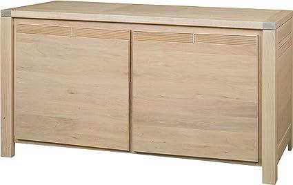 Credenza Moderna Rovere Naturale : Destock meubles credenza madia rovere naturale ante décor