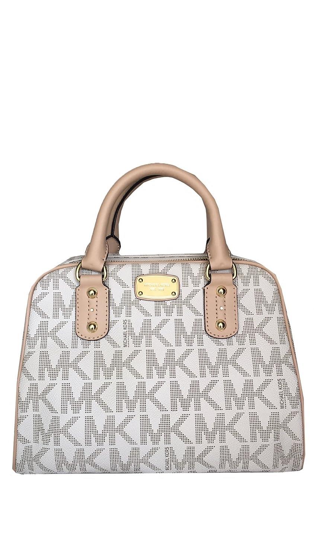 michael kors mk signature sm satchel vanilla handbags amazon com rh amazon com