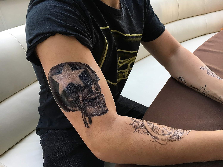 Tattoo para brazo Brazo tatuaje pegatinas Calavera Soldado con casco km069: Amazon.es: Belleza
