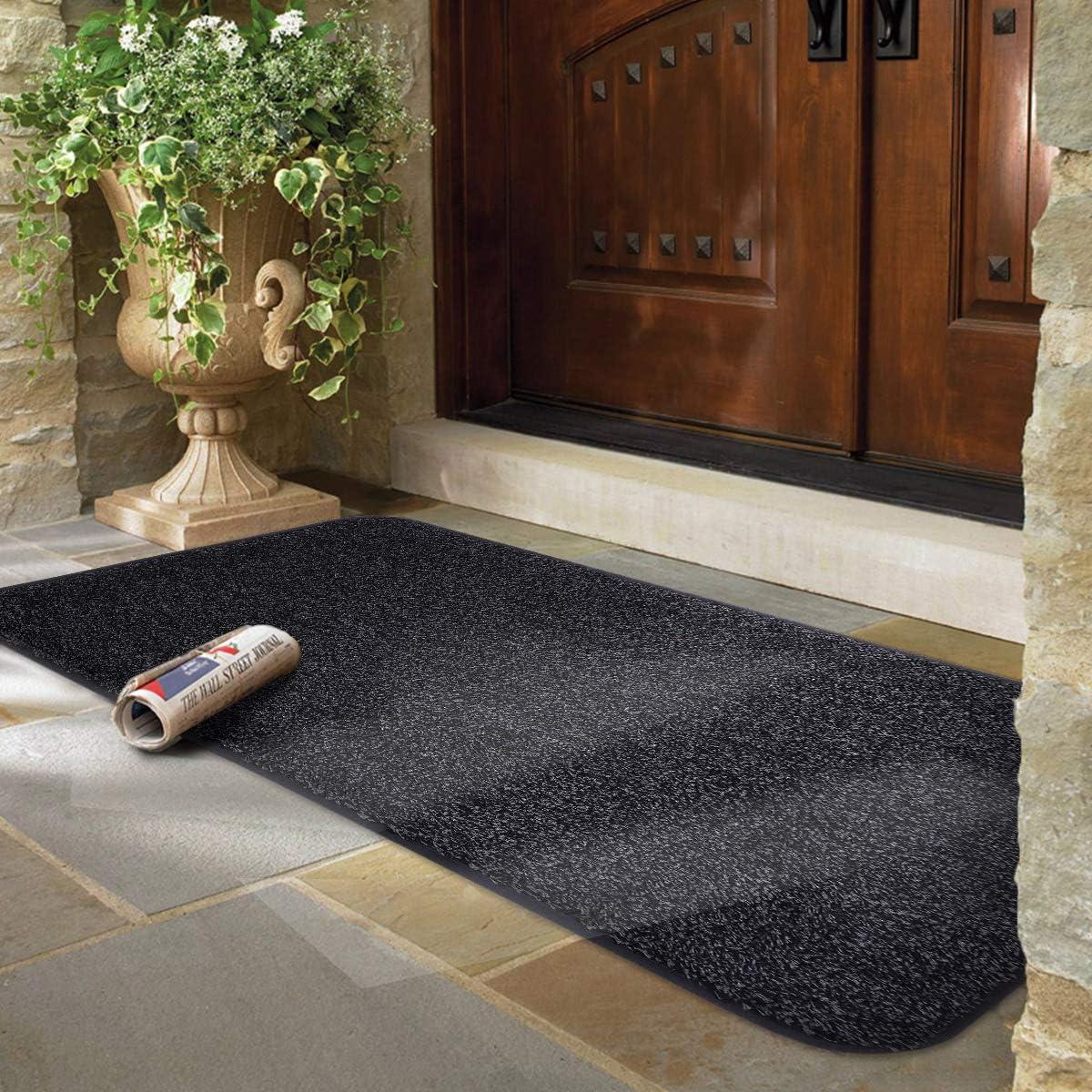 Mayshine® Felpudo antideslizante de algodón para puerta de barro suciedad, alfombra de entrada, zapatos, raspador de piso, interior/exterior, 60 x 100 cm