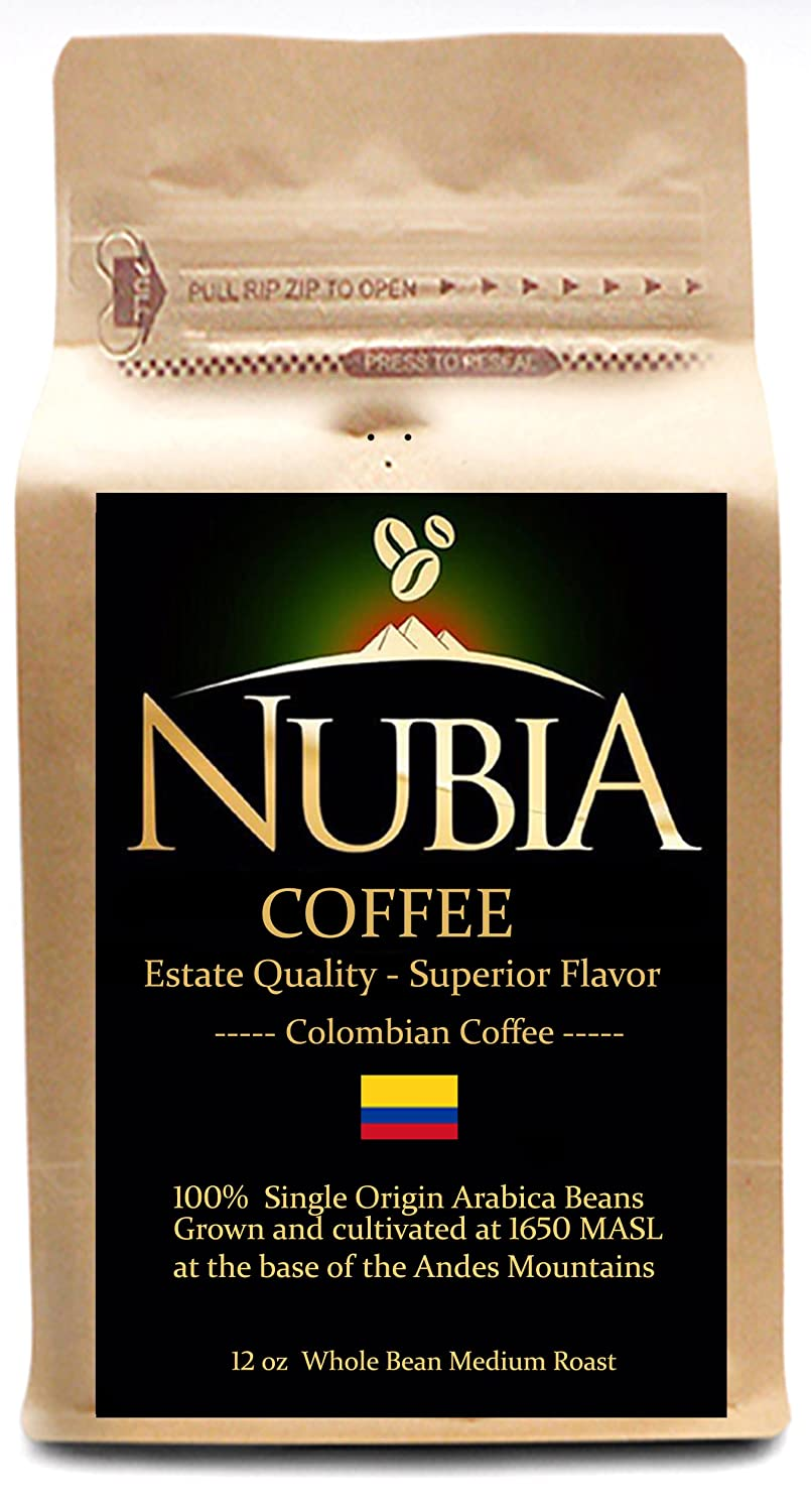 Nubia Coffees - Premium Estate Single Origin Colombian Coffee (12 oz Whole Bean) Image