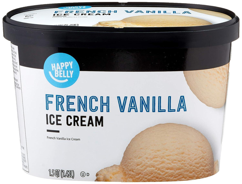 Amazon Brand - Happy Belly French Vanilla Ice Cream, 48 Fl Oz (Frozen)